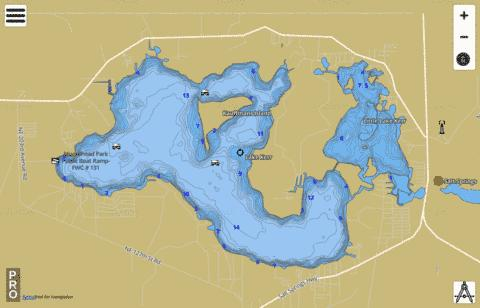 Lake kerr fishing map us fl 00305905 nautical charts app for Kerr lake fishing hot spots