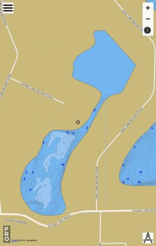 Burrell Lake Fishing Map - i-Boating App