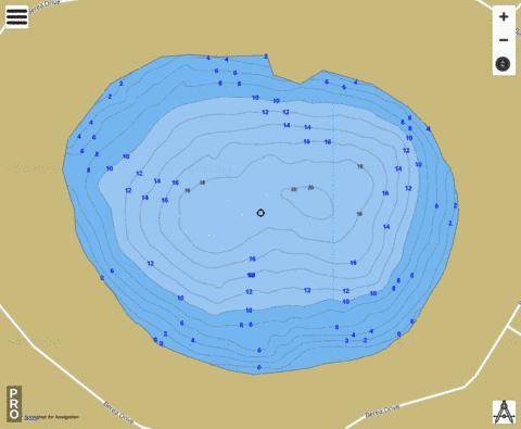 Grace Lake Fishing Map - i-Boating App