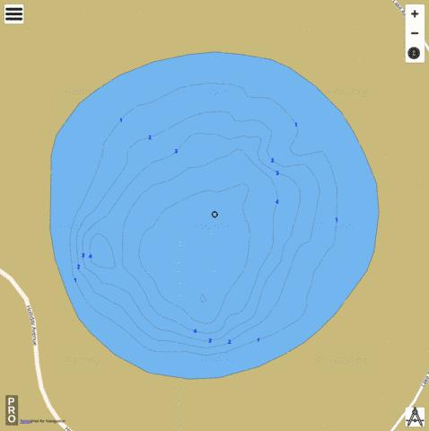 Jamison Dr Lake Fishing Map - i-Boating App