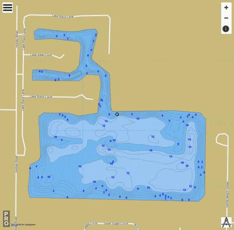 Kenny K  Park Lake Fishing Map - i-Boating App