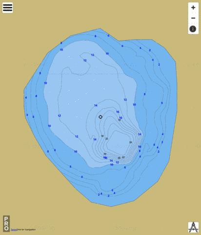 Lake Gem Fishing Map - i-Boating App