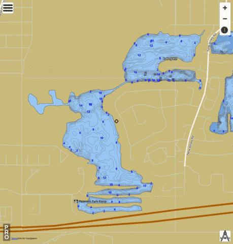 Lake John Fishing Map - i-Boating App