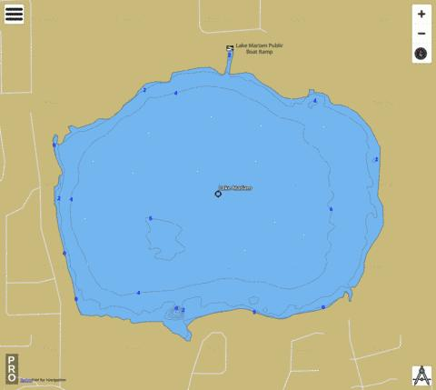 Lake Mariam Fishing Map - i-Boating App