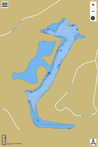 Lake New Ryan Fishing Map - i-Boating App
