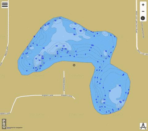 Lake Norbert Fishing Map - i-Boating App