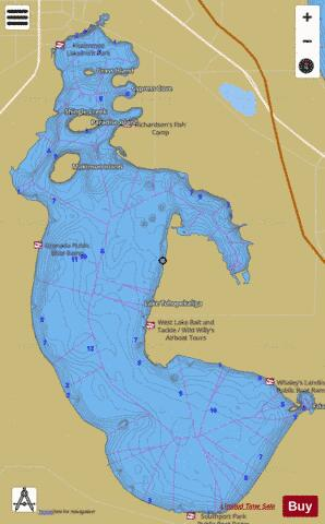 Florida Lakes Map.Lake Tohopekaliga Fishing Map Us Fl Lake Tohopekaliga Nautical