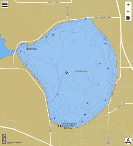 Lake Minneola Fishing Map - i-Boating App