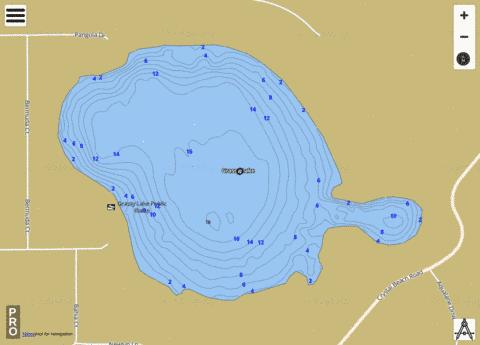 Grassy Lake (Eagle Lake) Fishing Map - i-Boating App