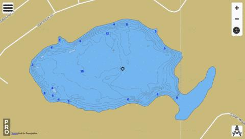 Hammock Lake Fishing Map - i-Boating App