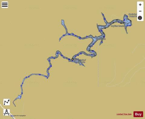 Yatesville Lake Fishing North Fork Lake Fishing Map