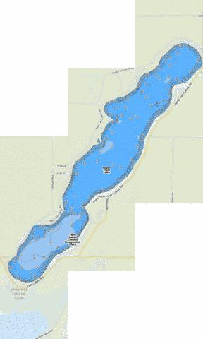 North Twin Lake Fishing Map - i-Boating App