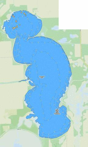 Trumbull Lake Fishing Map - i-Boating App