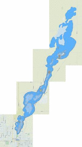 Five Island Lake Park Fishing Map - i-Boating App