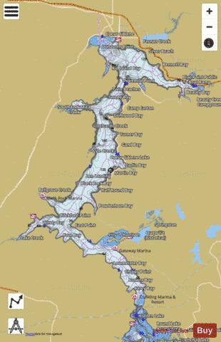 Coeur d'Alene Lake (Fishing Map : US_ID_00397563) | Nautical