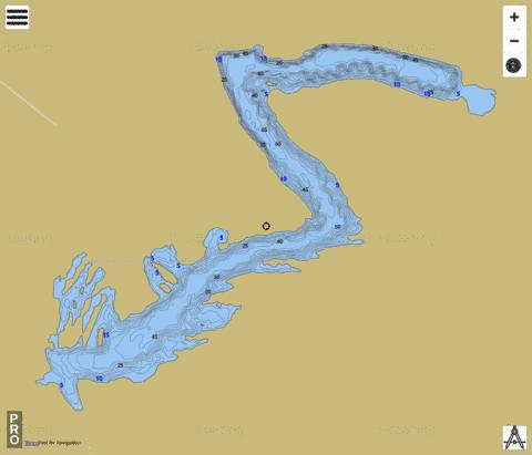 Kickapoo State Park Lake Fishing Map - i-Boating App