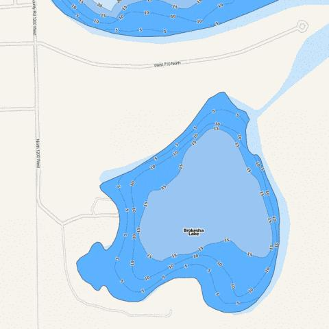 Brokesha Lake Fishing Map - i-Boating App