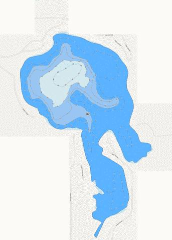 Cedar Lake LaGrange County Fishing Map - i-Boating App