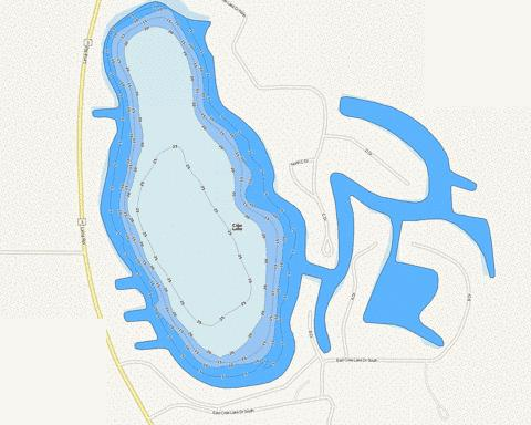 Cree Lake Fishing Map - i-Boating App