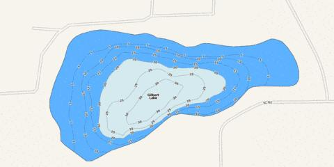Gilbert Lake Fishing Map - i-Boating App