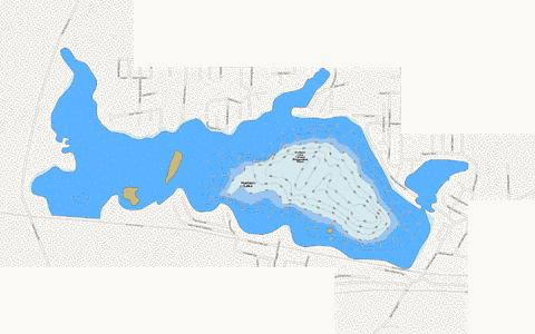 Hudson Lake Fishing Map - i-Boating App
