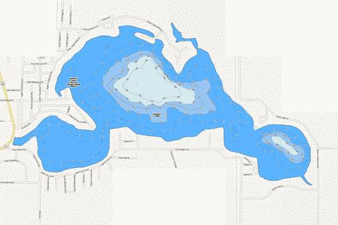 Koontz Lake Fishing Map - i-Boating App