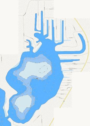 Kuhn Lake Fishing Map - i-Boating App