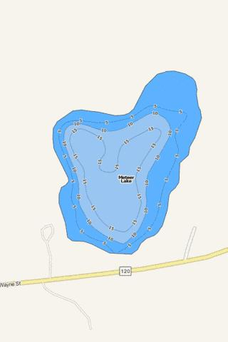 Meteer Lake Fishing Map - i-Boating App