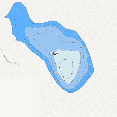 McClures Lake Fishing Map - i-Boating App