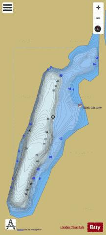 BLACK CAT LAKE Fishing Map - i-Boating App