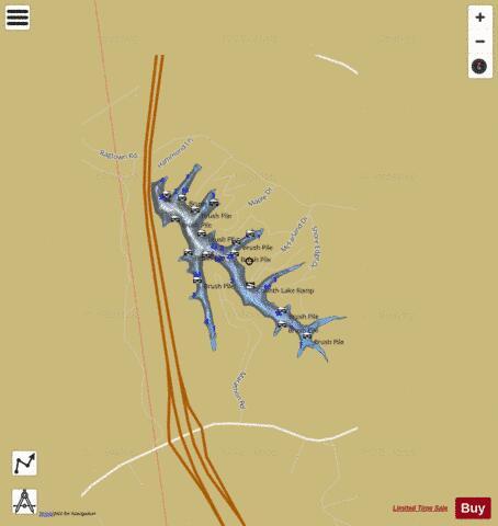 Corinth Lake Fishing Map USKMKYcorinthlake2 Nautical