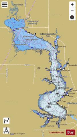 Milford Lake (Fishing Map : US_KS_00476180) | Nautical Charts App