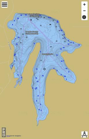 Douglas Co. SFL Fishing Map - i-Boating App