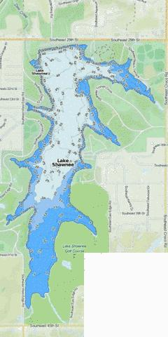 Lake Shawnee (Fishing Map : US_KS_lakeshawnee) | Nautical Charts App