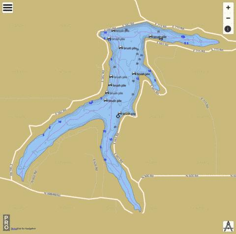Lone Star Lake Fishing Map - i-Boating App