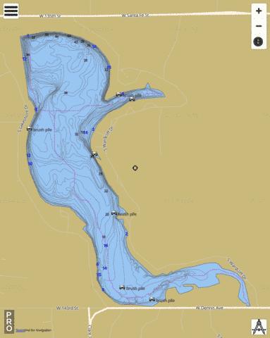 New Olathe Lake Fishing Map USKSnewolathelakejohnson
