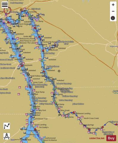 map of lake barkley kentucky Lake Barkley Fishing Map Us Ky 00486356 Nautical Charts App map of lake barkley kentucky