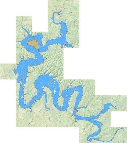 Green River Lake Fishing Map - i-Boating App