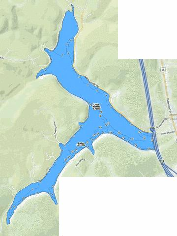 Lake Linville Fishing Map - i-Boating App