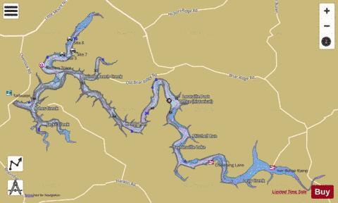 taylorsville lake wma map Taylorsville Lake Fishing Map Us Ky 02571204 Nautical Charts App taylorsville lake wma map