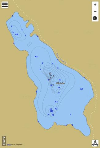 Mills Lake Fishing Map - i-Boating App