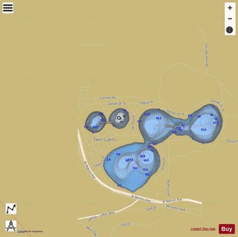 Lake balboa fishing map us lm us ga lw lp balboa for Balboa lake fishing