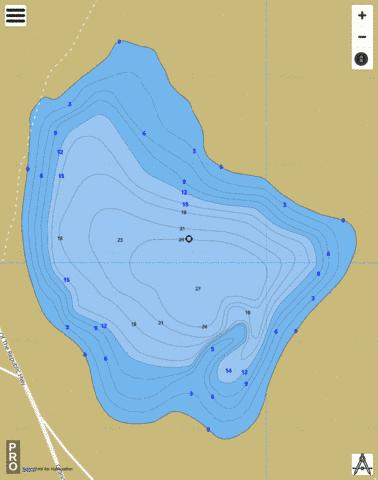 Snow Pond Fishing Map - i-Boating App