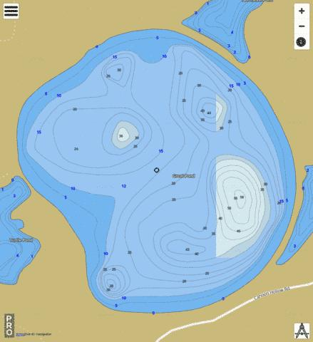 Great Pond Fishing Map - i-Boating App