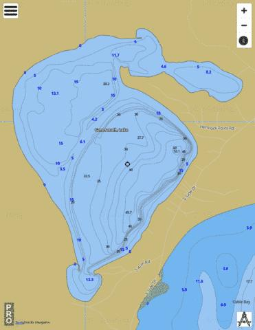 Lake Geneserath Fishing Map - i-Boating App