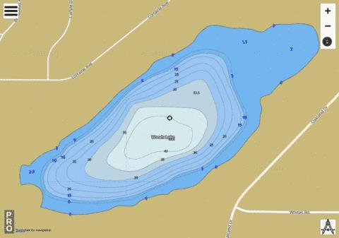 Woods Lake Fishing Map - i-Boating App
