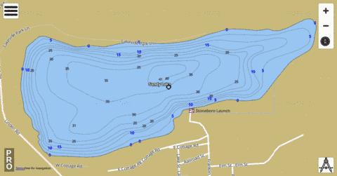 Sandy Lake Fishing Map - i-Boating App