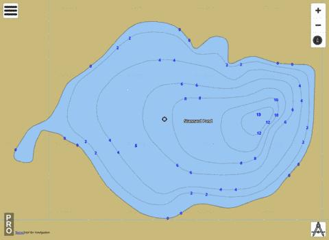 Stannard Pond Fishing Map - i-Boating App
