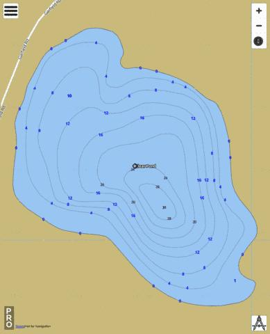 Clear Pond Fishing Map - i-Boating App
