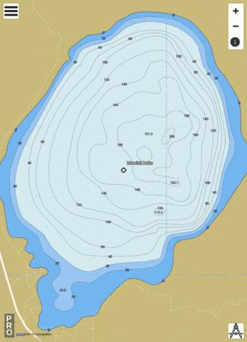 Mowich Lake Fishing Map - i-Boating App